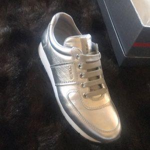 Prada Shoes   Prada Silver Sneakers